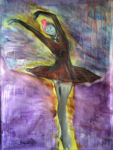 La danseuse - 165x124cm - mixed on canvas Manuel Baldassare Artist 2011