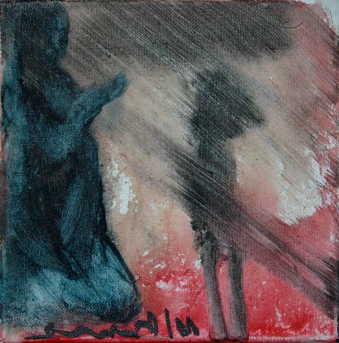 Fatima - 30x30cm - mixed on canvas - Manuel Baldassare Artist 2011