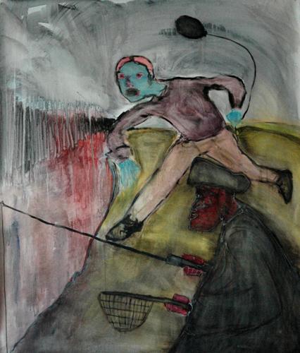 Pescatore - 147x125cm - mixed on canvas - Manuel Baldassare Artist 2011