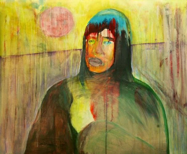 Sol levante - 150x118cm - mixed on canvas