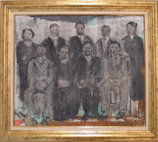 Lo stato delle cose rovinate; cm 50 x 70 Mixed media on canvas