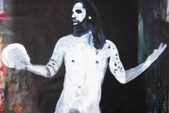 naked hamlet, self portrait - Manuel Baldassare Artist 2017