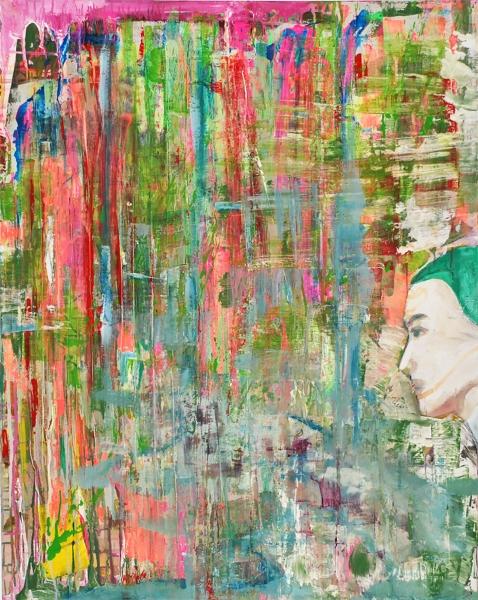 profilo di donna nel bosco - Manuel Baldassare Artist 2016