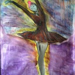 La danseuse - 165x124cm - mixed on canvas